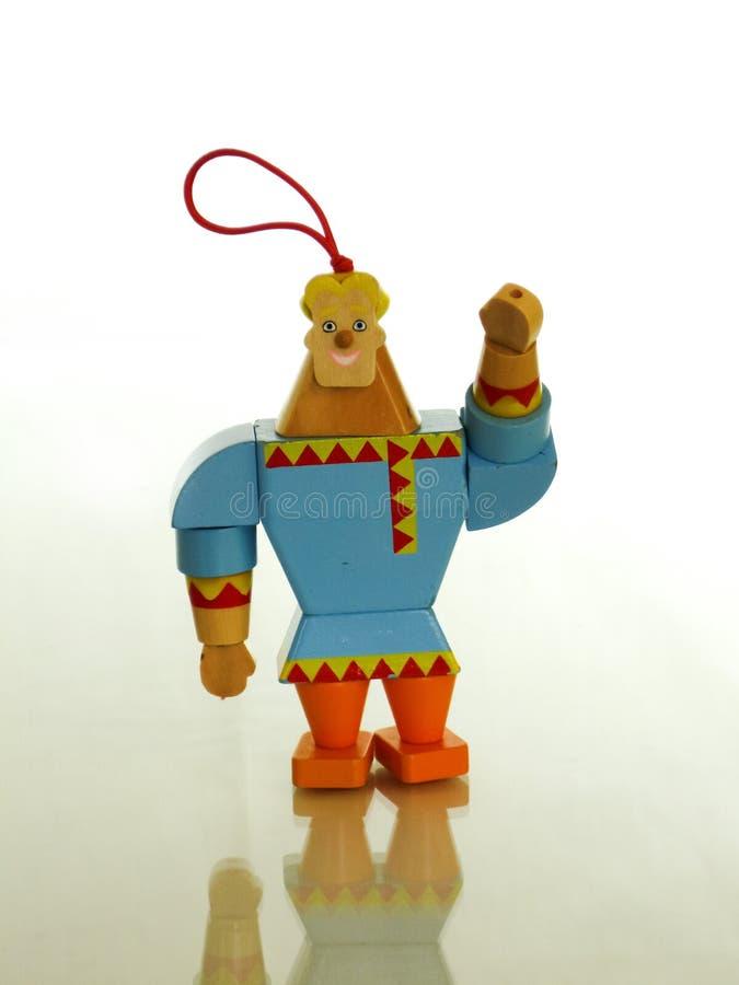 Drewniany mężczyzna wita ciebie zdjęcie royalty free