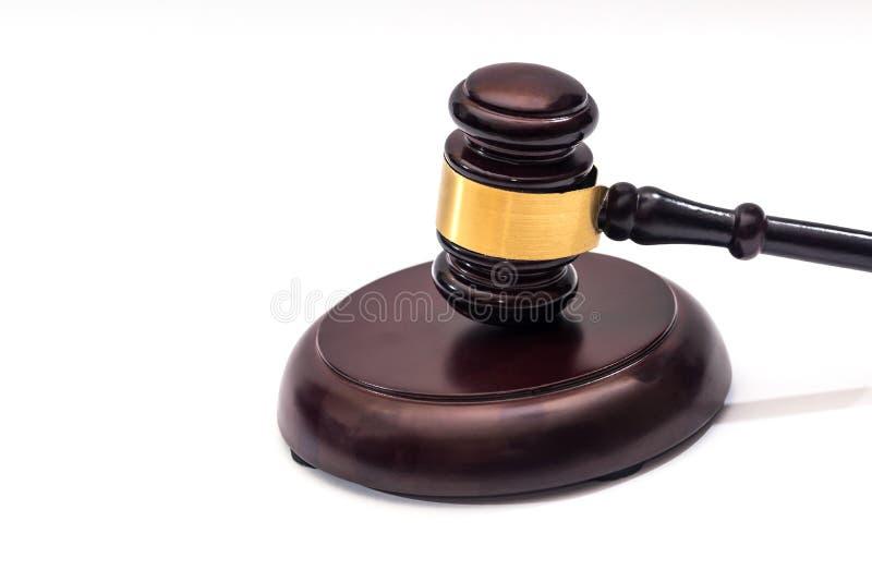 drewniany młota sądownictwo odizolowywający obraz royalty free