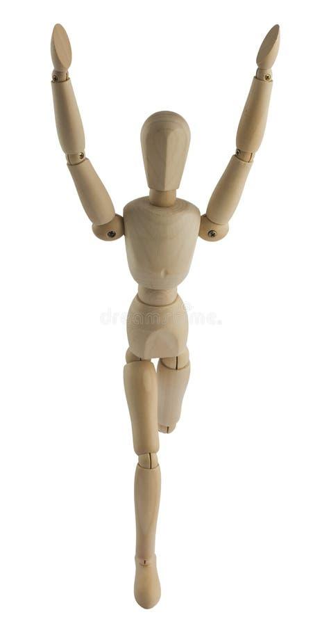 drewniany mannequin bieg zdjęcia stock