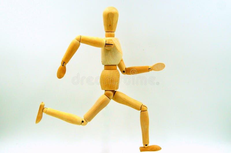 Download Drewniany Mannequin Postaci Bieg Obraz Stock - Obraz złożonej z pojedynczy, kukła: 106917091