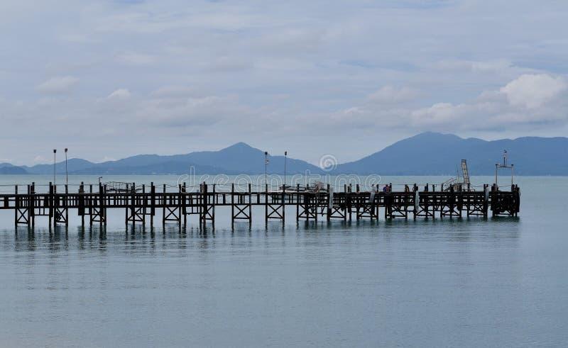 Drewniany molo Tajlandia zdjęcie royalty free