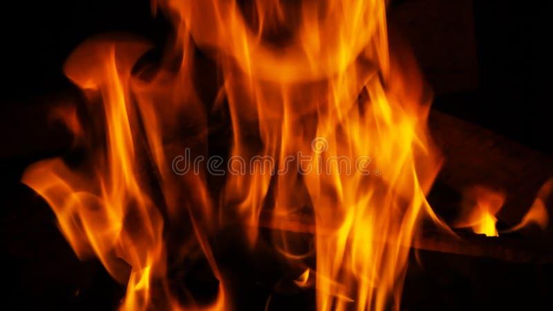 Drewniany ogień zdjęcia stock