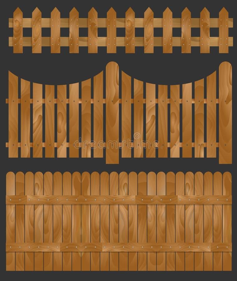 Drewniany ogrodzenie, ilustracja ilustracja wektor