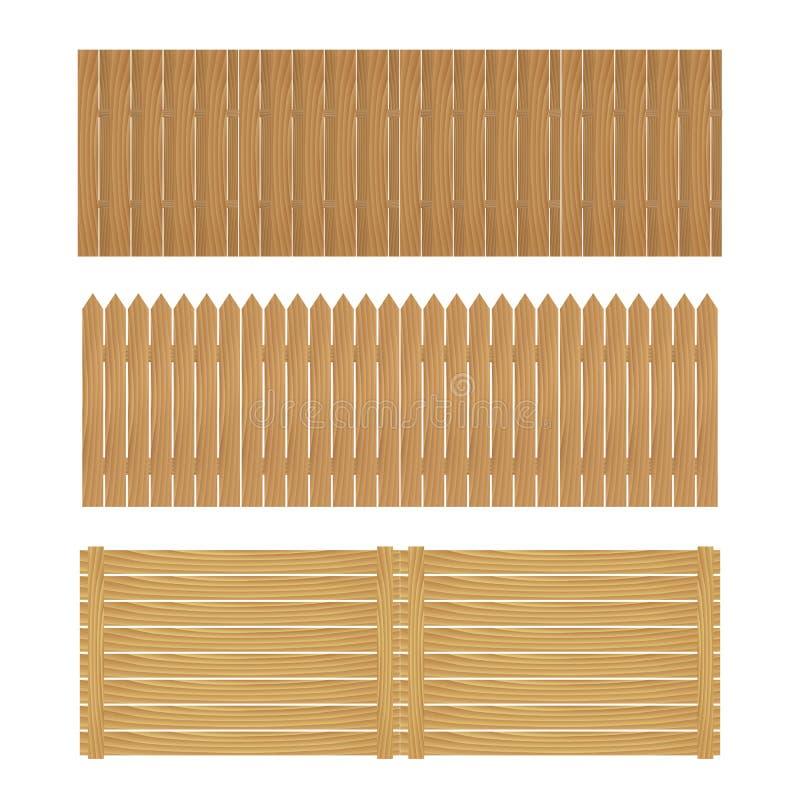 Drewniany ogrodzenie na białym tle zdjęcie royalty free