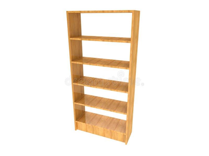 Drewniany półka na książki ilustracja wektor