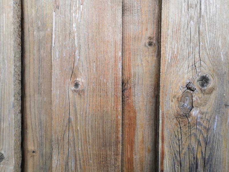 Drewniany płotowy tekstury czerń, szarość i pomarańcze, fotografia stock