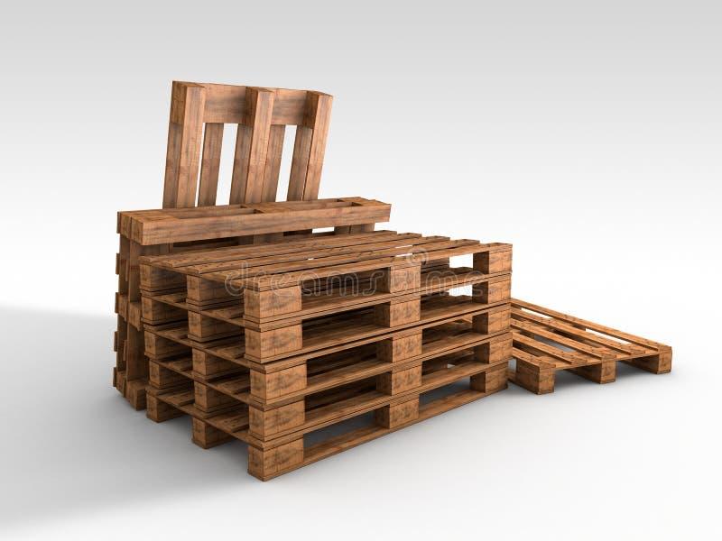 Drewniany pallete ilustracji