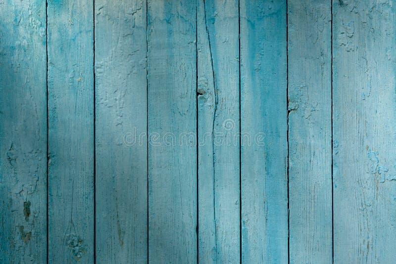 Drewniany panel deski malował w błękicie obrazy stock