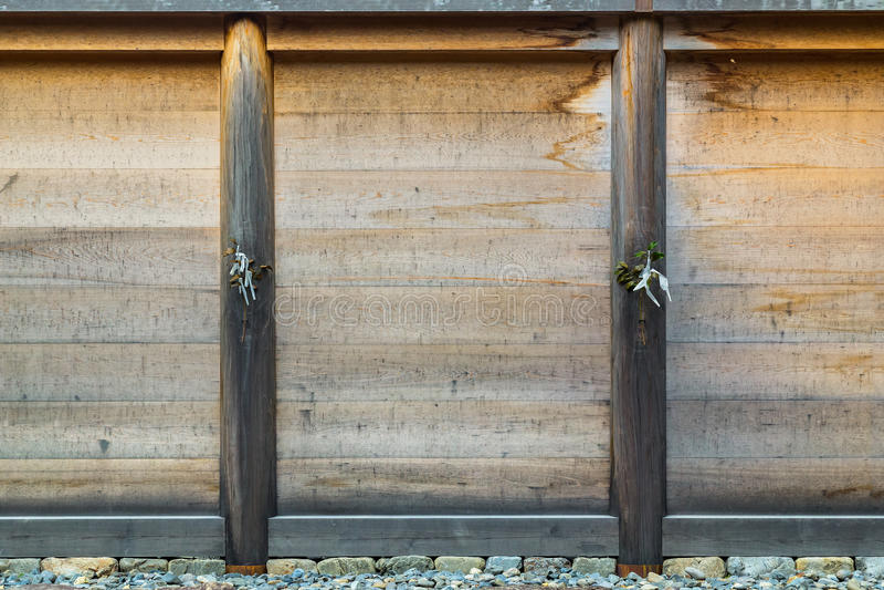 Drewniany panel Ise Jingu GekuIse Uroczysta świątynia - zewnętrzna świątynia w Ise mieście, Mie prefektura fotografia royalty free
