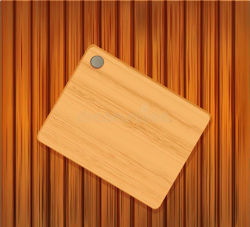 drewniany plakieta przybijający wektor ilustracji