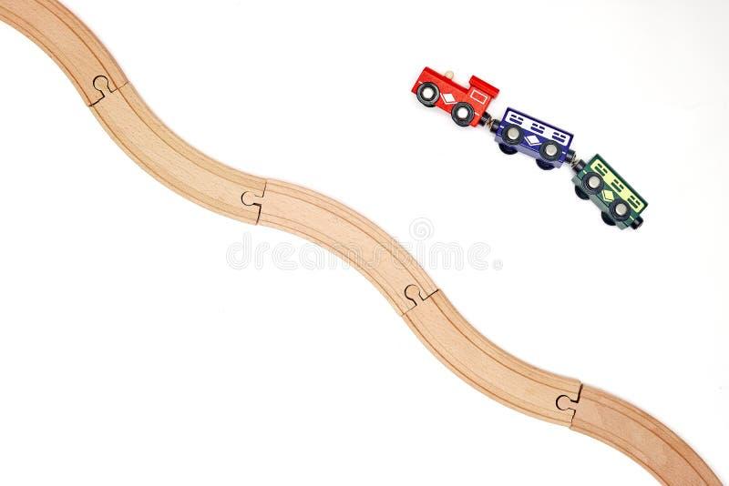 Drewniany pociągu ślad zdjęcie stock