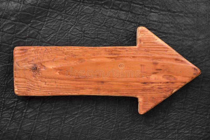 Drewniany pointer robić lekki drewno z miejscem dla twój teksta obraz royalty free
