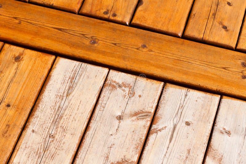 Drewniany pokładu wzoru stronniczo pobrudzony przejrzysty obrazy royalty free