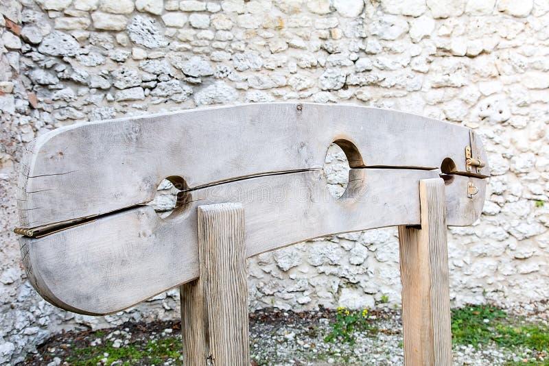 Drewniany pręgierz zdjęcie royalty free