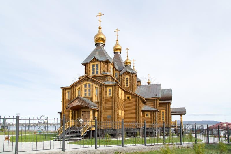 Drewniany Prawosławny kościół chrześcijański obrazy royalty free