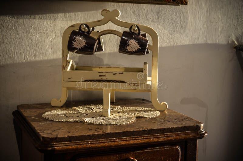 Drewniany przedmiot w starej fotografii fotografia royalty free