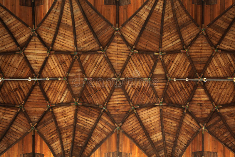 Drewniany przesklepiony sufit w Grote Kerk w Haarlem, holandie zdjęcia stock