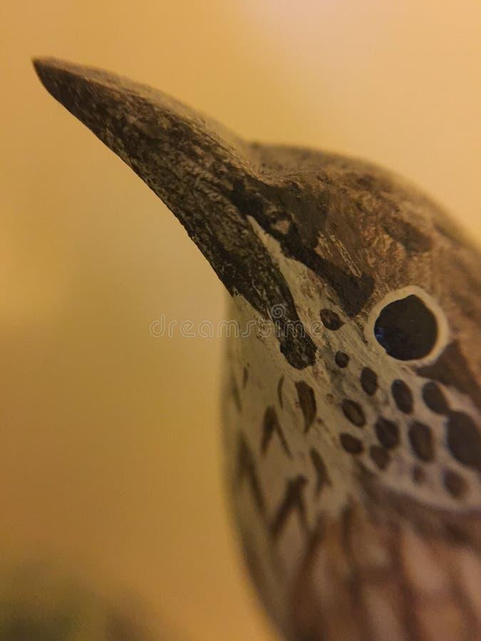 Drewniany ptak obraz stock