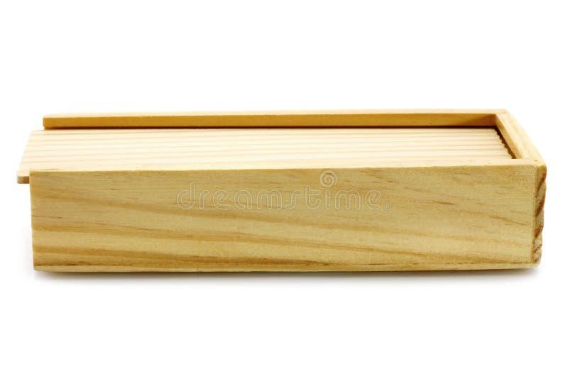 Drewniany pudełko fotografia stock