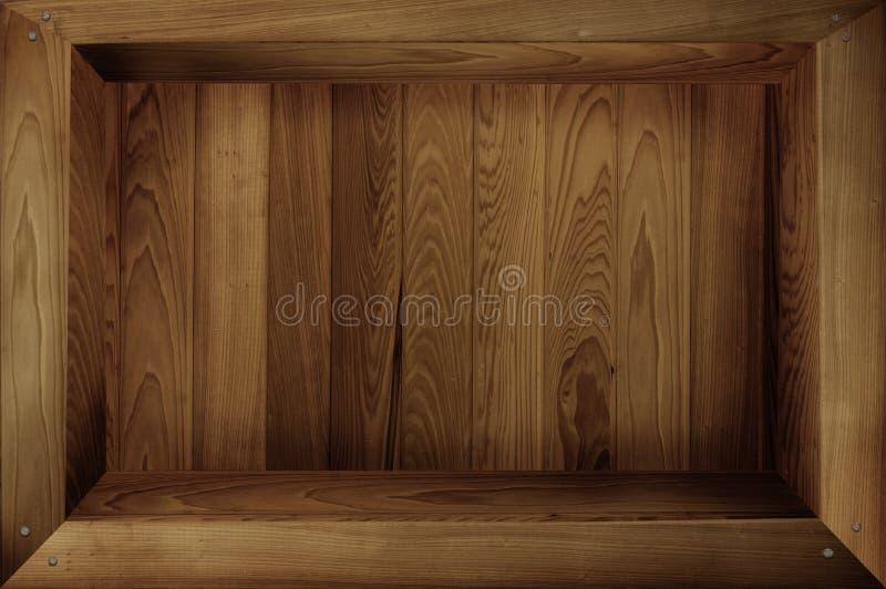 Drewniany pudełko obrazy stock