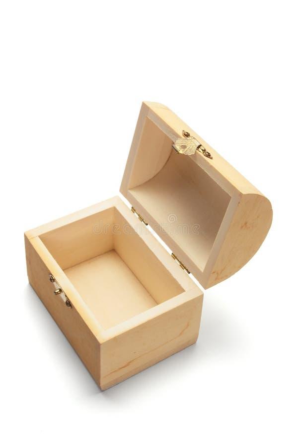 drewniany pudełkowaty miniaturowy skarb zdjęcia stock