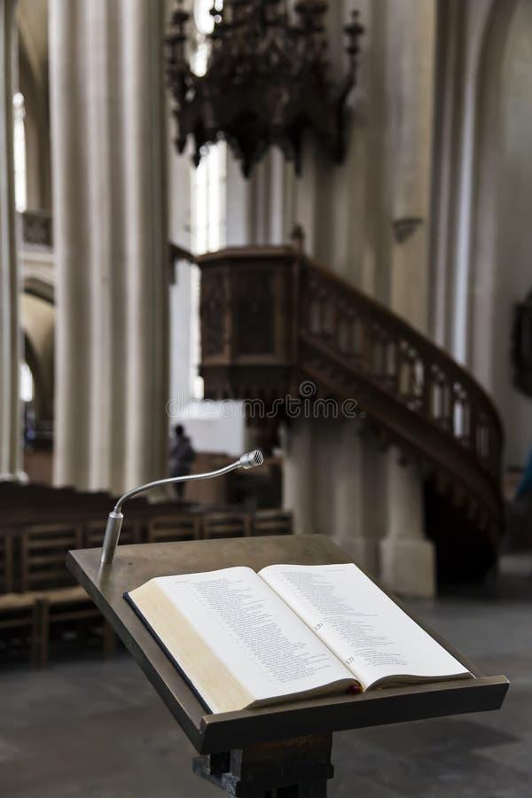 Drewniany pulpit obraz stock