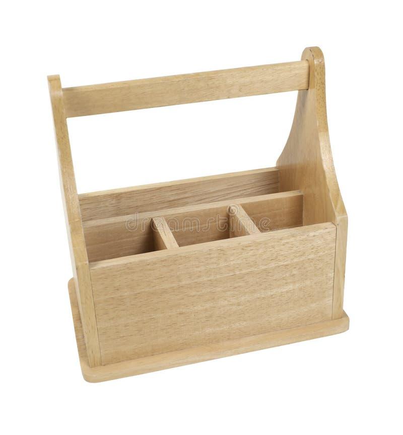 drewniany pusty toolbox obrazy stock