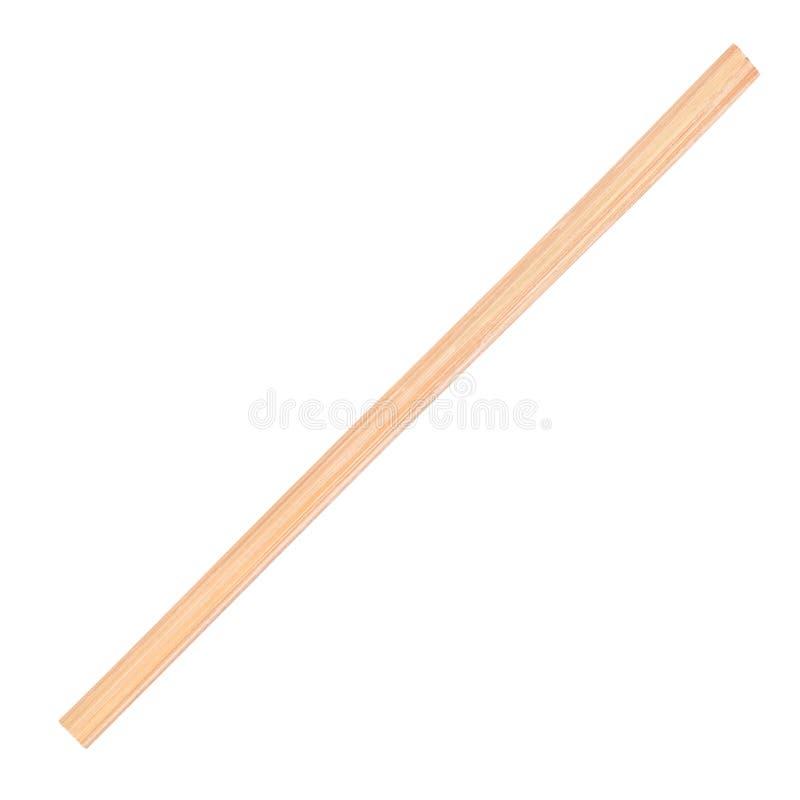 Drewniany różdżki zbliżenie na odosobnionym białym tle zdjęcia stock
