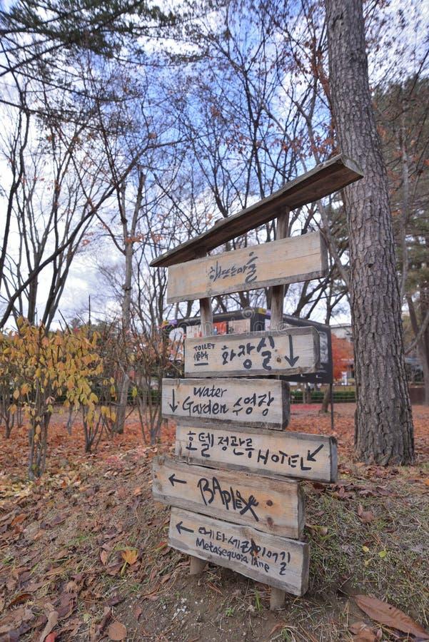 Drewniany Ręcznie pisany Drogowy znak obrazy stock