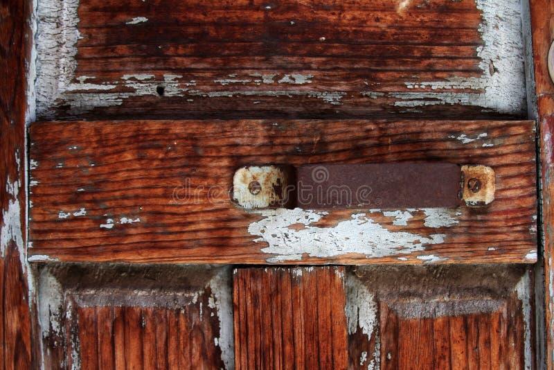 Drewniany rocznika drzwi zdjęcia royalty free