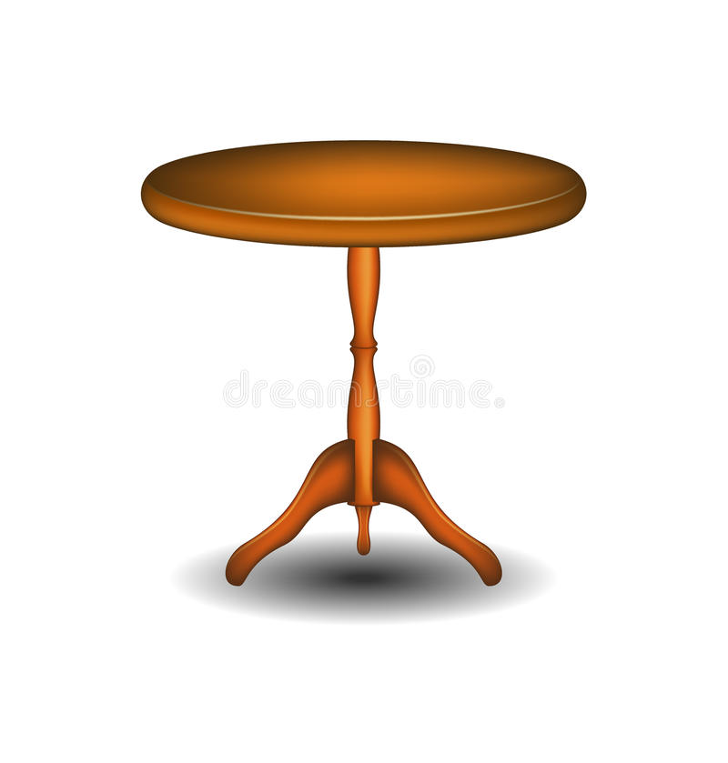 Drewniany round stół royalty ilustracja