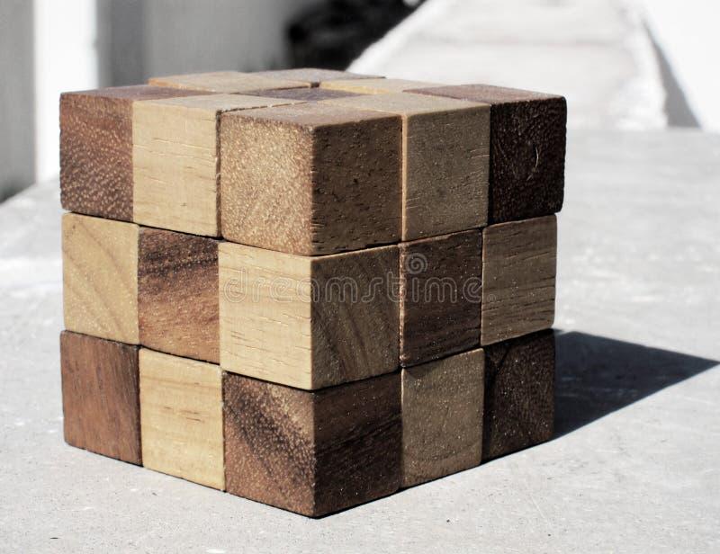 drewniany Rubick w?? zdjęcie royalty free