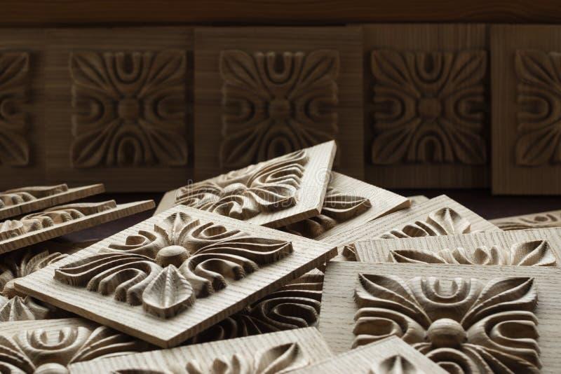 Drewniany rzeźbiący dekoracyjny element dla meble obrazy royalty free