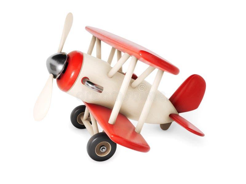 Drewniany samolot odizolowywający na białym tle 3D renderingu illus royalty ilustracja