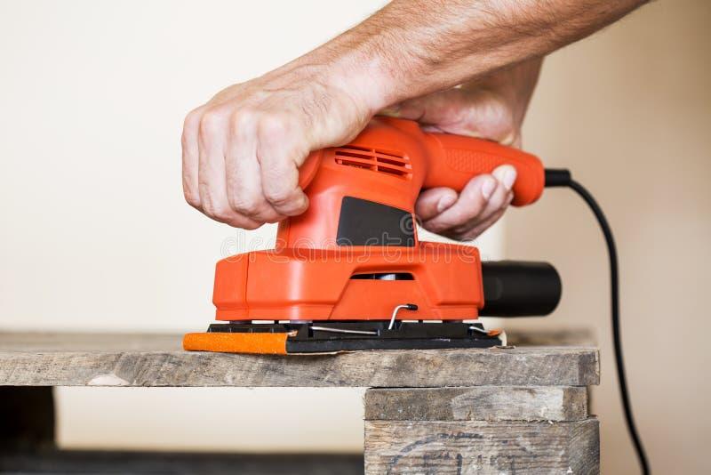 Drewniany sanding obraz stock