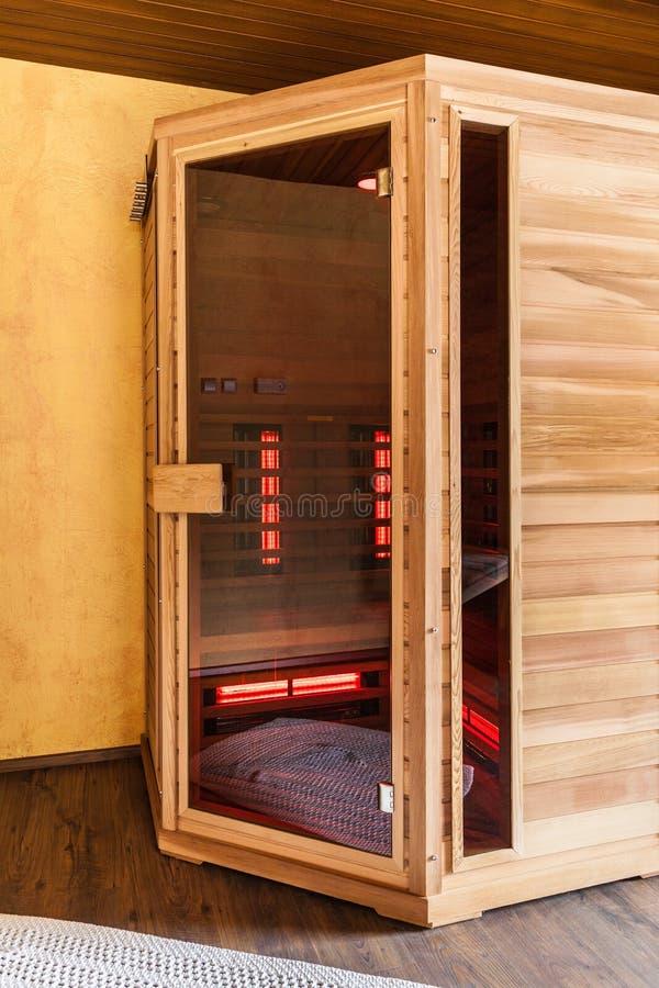 Drewniany sauna zdjęcie stock