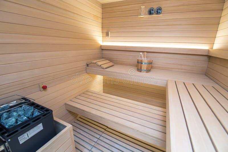 Drewniany sauna fotografia stock