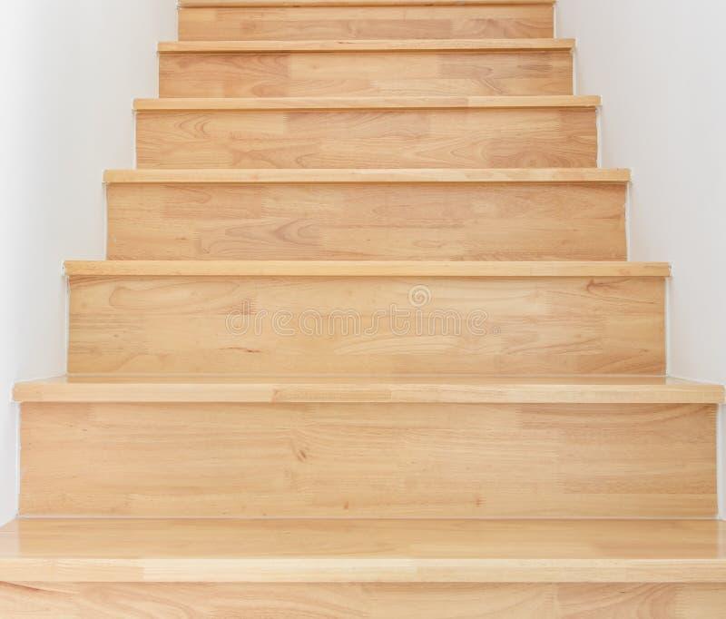 Drewniany schody obraz royalty free