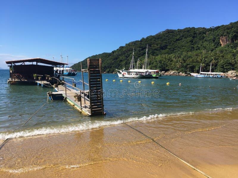 Drewniany schronienie w Ilha Grande zdjęcia royalty free