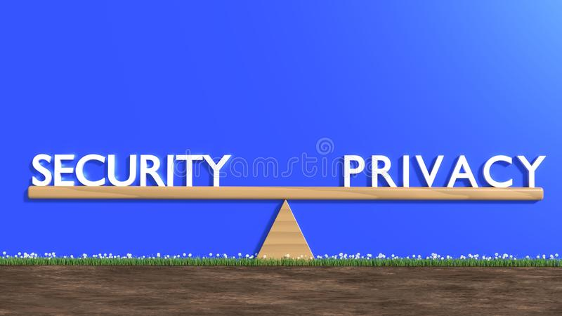 Drewniany seesaw z ochroną na jeden i prywatnością na stronie przeciwnej fotografia stock