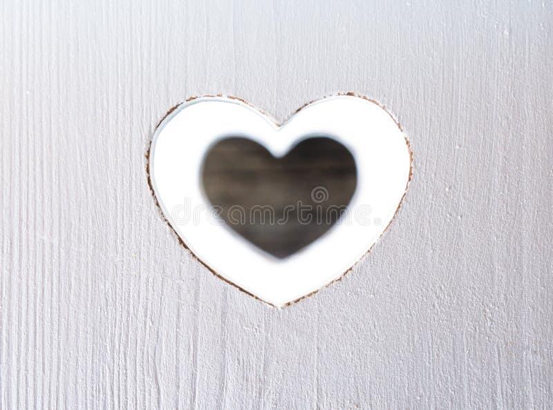 Drewniany serce zdjęcia stock