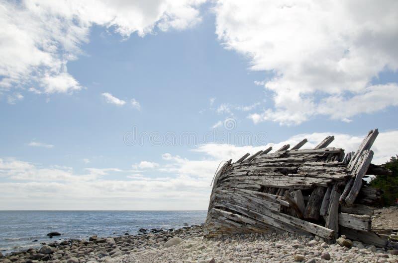 Drewniany shipwreck zdjęcie stock