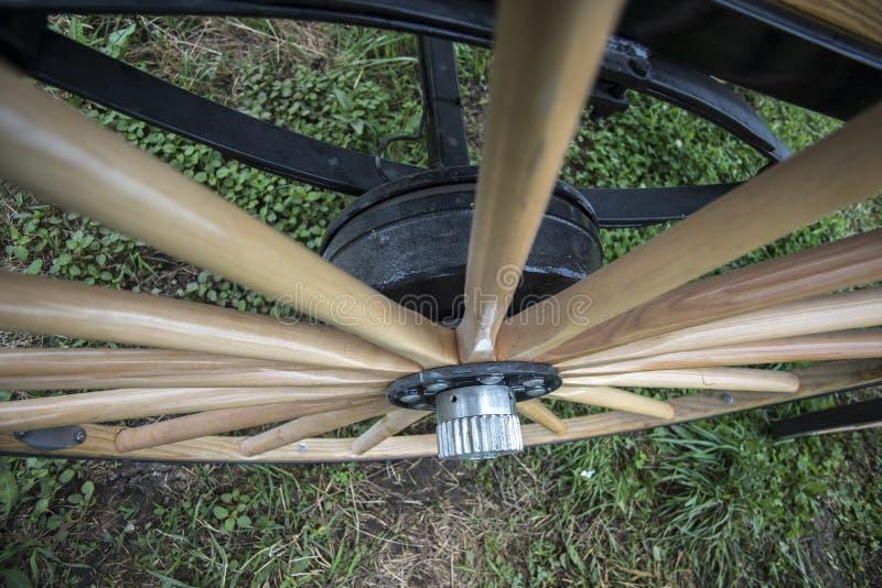 Drewniany spoked furgonu koło zdjęcie royalty free