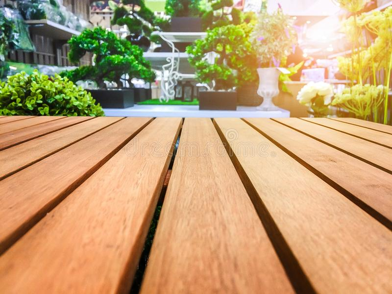 Drewniany stół dla twój produktu pojęcia i tekstury zdjęcie stock