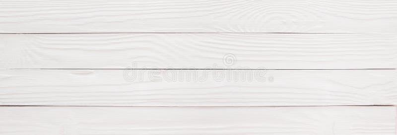 Drewniany stół lub podłoga malowaliśmy biel jako tło, drewniany textur zdjęcia stock