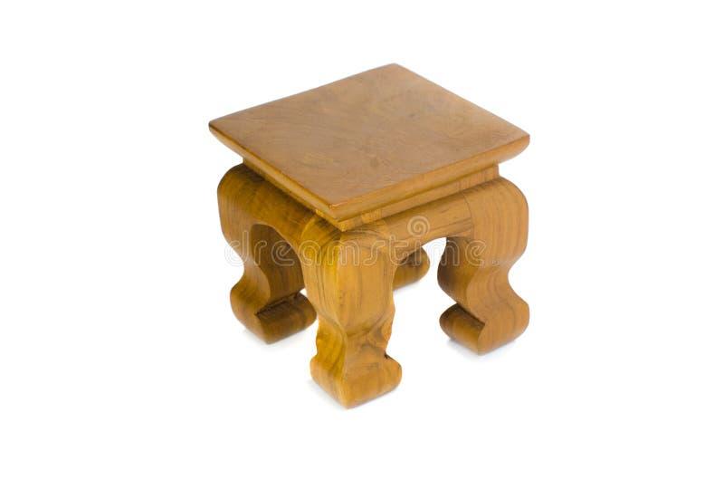Drewniany stół odizolowywa na białym tle obraz stock