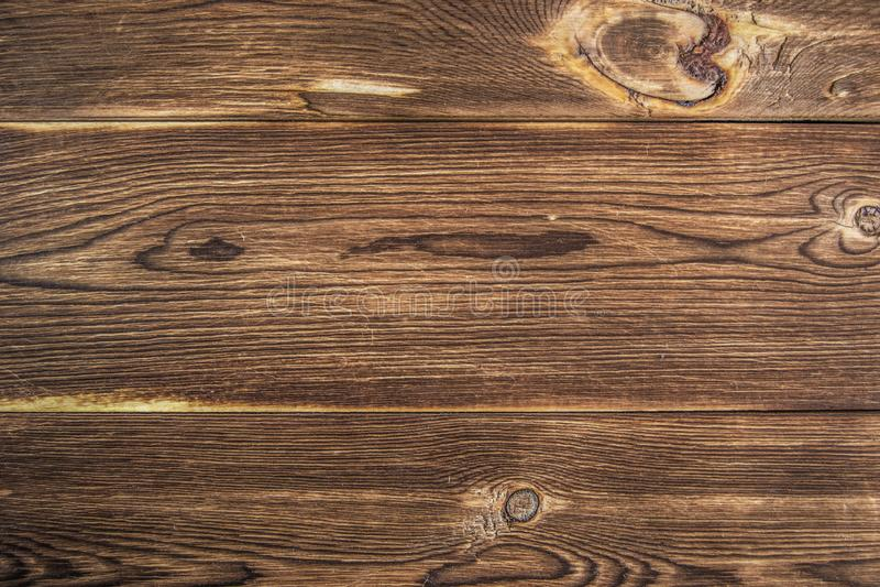 Drewniany stół pukający puszek desek brąz fotografia royalty free