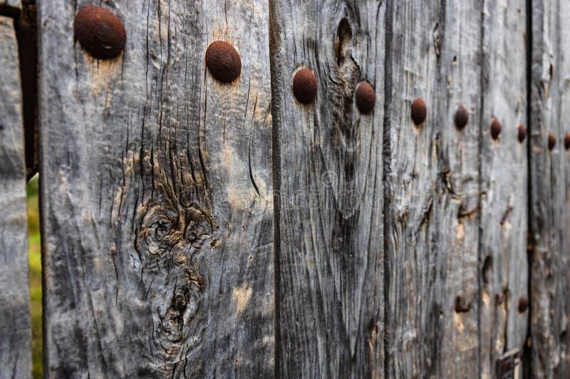 Drewniany stary drzwi fotografia royalty free