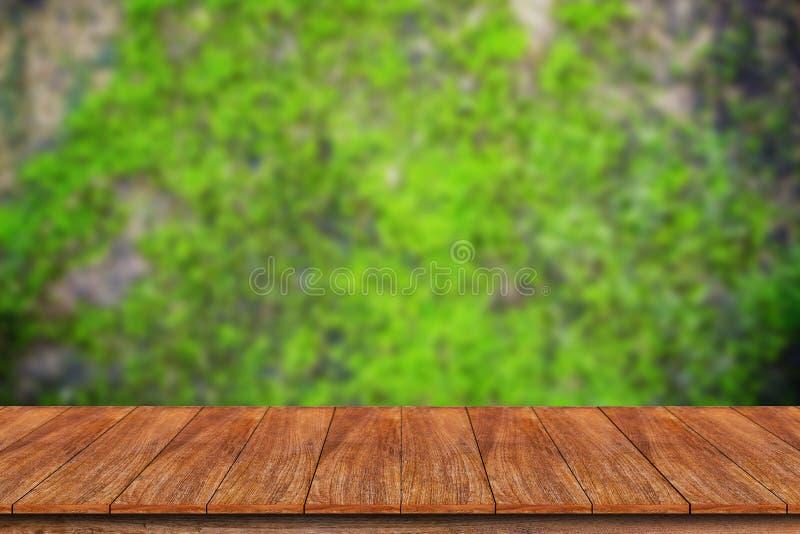 Drewniany stołowy wierzchołek obraz royalty free