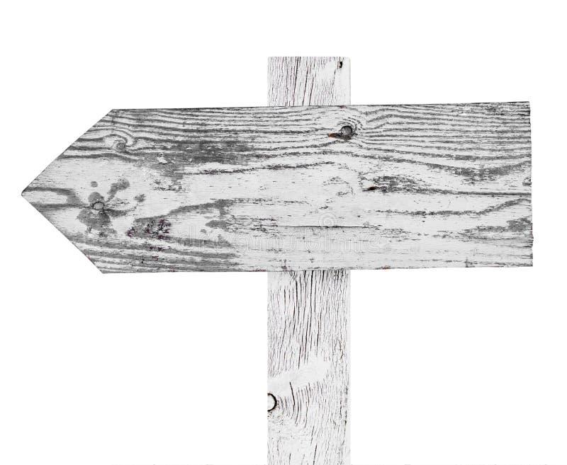 Drewniany strzała znak obraz royalty free